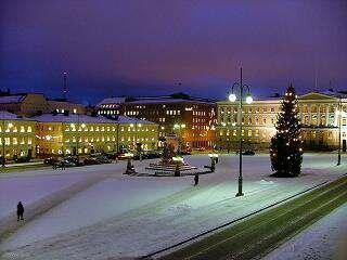 Хельсинки.  Достопримечательность Сенатская площадь