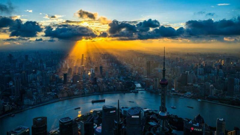Восход Солнца в Китае