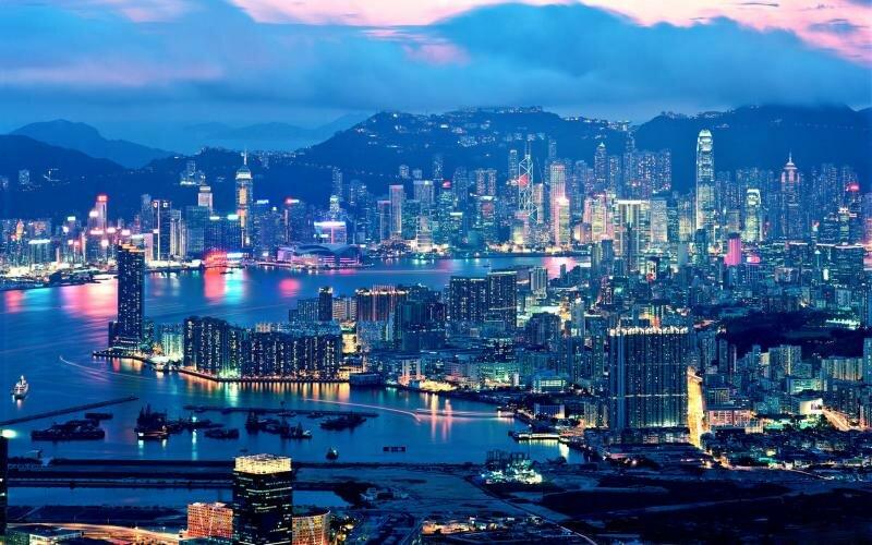 Панорамный вид на Шанхай