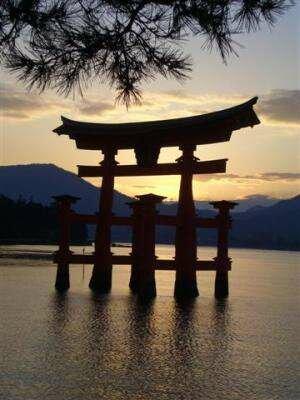 Закат в Японии